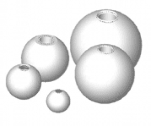 Blind Threaded 302 Stainless Steel Balls - .625 Ball Diameter