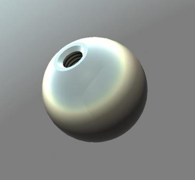 Blind Threaded 302 Stainless Steel Balls - 1.000 Ball Diameter