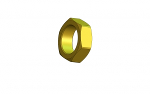 1/2-40 Brass. Precision Lock Nut