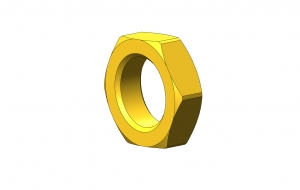 9/16-40 Brass Precision Lock Nut