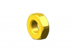 1/4-80 Brass. Precision Lock Nut
